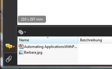 Anhang im Adobe Reader