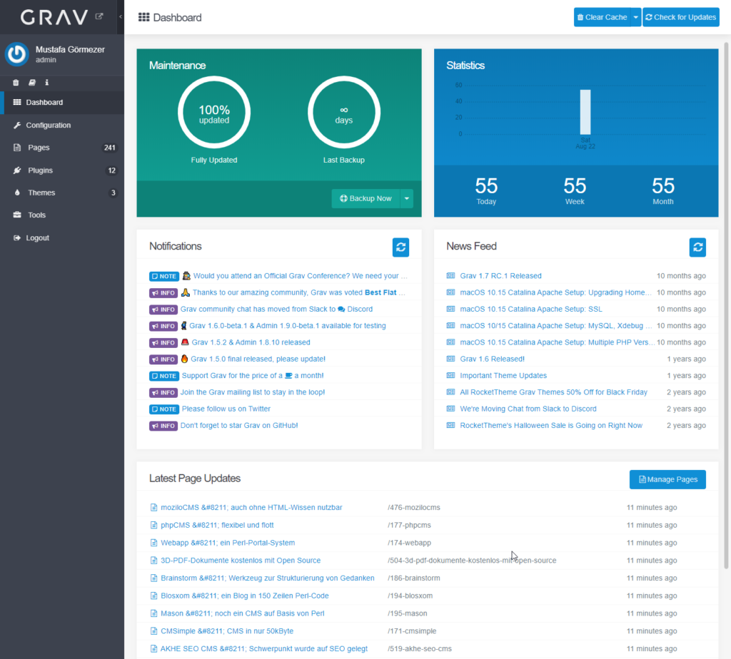 Grav - Open Source Flatfile CMS